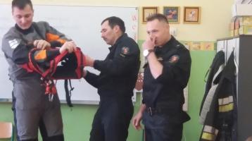 Ia- spotkanie ze Strażą Miejską i strażakami