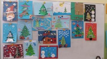 konkurs plastyczny pt. Świąteczna pocztówka