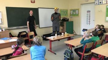 Spotkanie z przedstawicielami straży pożarnej