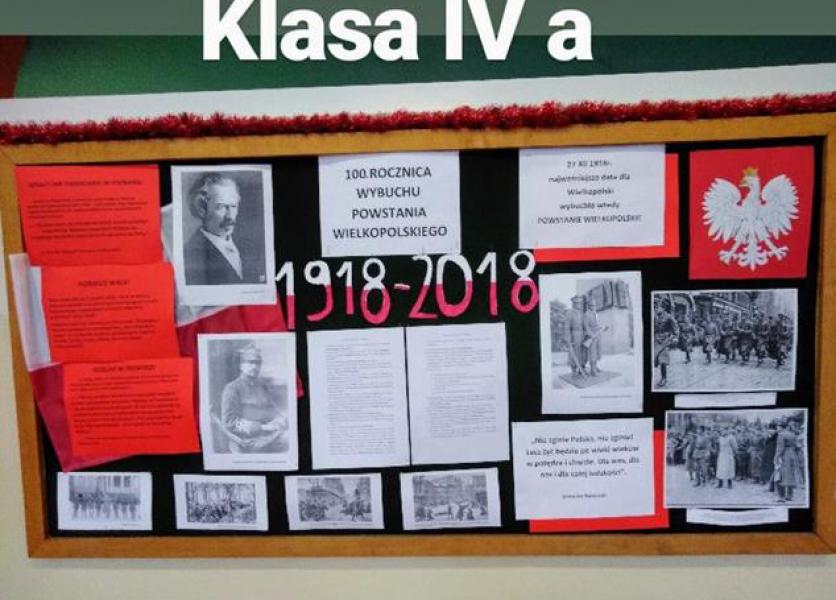 Konkurs na najładniejszą gazetkę dotyczącą setnej rocznicy Powstania Wielkopolskiego