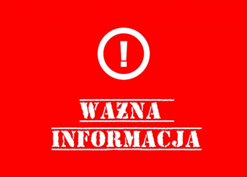 12.11.2018 zajęcia na Termach maltańskich odwołane