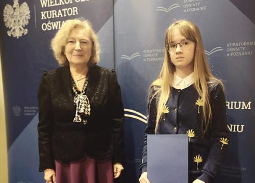 Sukces uczennicy w Wojewódzkim Konkursie z Biologii